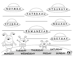 days of the week chart weekdays worksheet 1 worksheets days of the