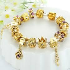 bracelet pandora gold images 52 gold pandora charm bracelet gold plated charm bracelet bangle jpg
