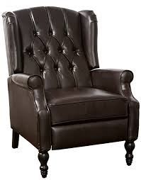 Wingback Chair Recliner Design Ideas Popular Wingback Leather Recliner Inside Shop Recliners And Fabric
