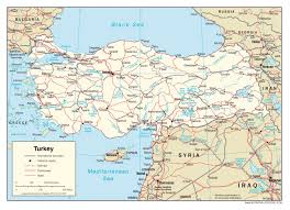 Political Map Asia by Large Political Map Of Turkey With Roads Railroads And Major