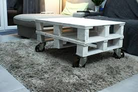 Wooden Pallet Coffee Table Diy White Painted Pallet Coffee Table Pallet Furniture Diy