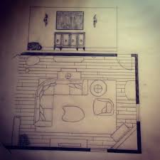 Living Room Architecture Drawing Interior Design Ii Project Design Elevation For A Basement Living