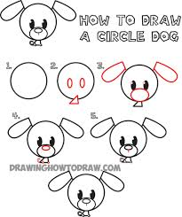 easy steps to draw cute animals easy to draw a cute puppie drawing