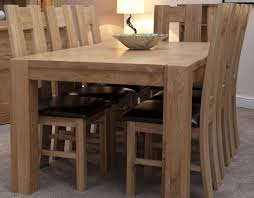 Solid Oak Dining Table Buy Homestyle Gb Trend Oak Dining Set Large With 6 High Bycast
