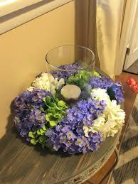 floral centerpiece hydrangeas and lilacs centerpiece spring