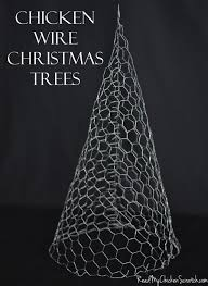 chicken wire trees could paint white sparkly and