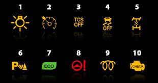 toyota corolla dashboard warning lights tag warning lights top gear philippines