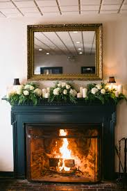 white and green mantel garland house mantels and garlands