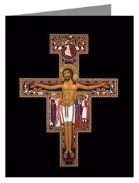 san damiano crucifix note card san damiano crucifix by r lentz stores