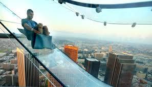 los angeles glass skyscraper slide already facing lawsuit khou com