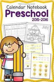 free printable 2015 2016 preschool calendar learning notebook