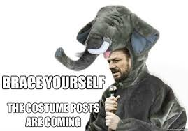 Brace Yourself Memes - brace yourself the costume posts are coming weknowmemes