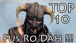 Fus Ro Dah Meme - top 10 fus ro dah youtube