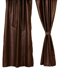 brownstone faux leather drapery set 84 inch long rustic western