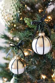 diy black white and gold ornaments