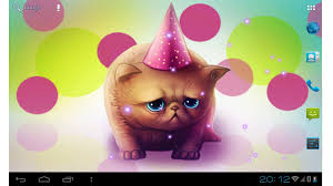 birthday cat cute live wallpaper for kids play android apps on
