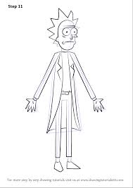 learn how to draw rick from rick and morty rick and morty step