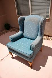 Reupholster Arm Chair Design Ideas Furniture Upholstering A Wingback Chairs With Blue Color And
