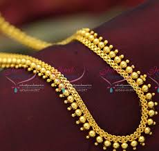 long gold beads necklace images L0161 gold beads design flat chain long necklace descent gold JPG