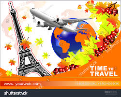 autumn trip time travel business stock vector 705456103