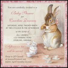 rabbit baby shower imagina on zazzle beatrix potter bunny rabbit baby shower tea