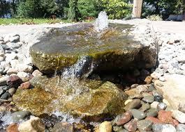 Rock Water Features For The Garden Turf Tech Walker Minnesota Landscape Water Gardens Features