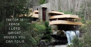 frank lloyd wright inspired home with lush landscaping top 16 frank lloyd wright houses you can tour
