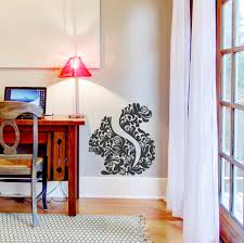 floral squirrel wall decal sticker