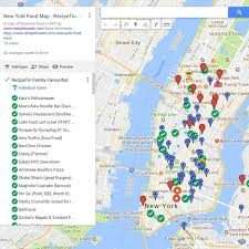 New York On Map New York Food Map Use It On The Go Recipetin Eats