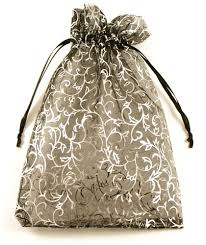 large organza bags large patterned organza drawstring bag on jewellery world