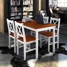 chaises de cuisine en pin ensemble 1 table en bois de pin 4pcs chaises moderne couleur de