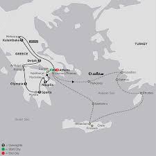 Map Of Ancient Greece And The Aegean World by Tour Greece U0026 Turkey Cosmos Tours