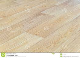 Perspective Laminate Flooring Linoleum Flooring With Embossed Light Wood Texture Close Up