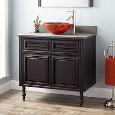 bathroom vanity vessel sink combo wood vessel sink vanity signature hardware