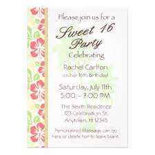 sweet 16 luau invitations u0026 announcements zazzle