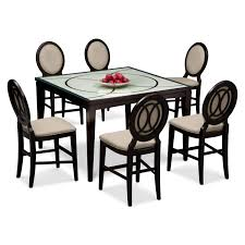 Dining Room Table 6 Chairs Cosmo Counter Height Table And 6 Chairs Merlot American
