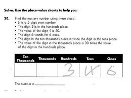 place value mystery number mystery number