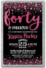 40th birthday party invitations marialonghi com