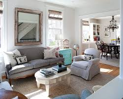 small apartment living room embraces the shabby chic style eva