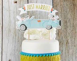 m cake topper just married vintage car cake topper kate aspen