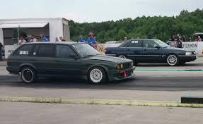 bmw vs audi race audi 200 2 2t 20v vs bmw e30 325i touring turbo 1 4mile drag race