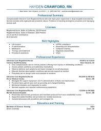 registered nurse resume sample nardellidesign com