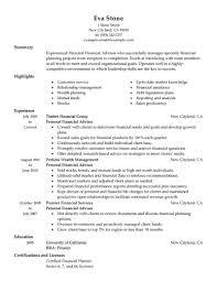resume summary statement exles finance resumes best personal financial advisor resume exle livecareer