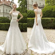 garden wedding dresses 2015 shoulder lace wedding dresses capped sleeves fit and
