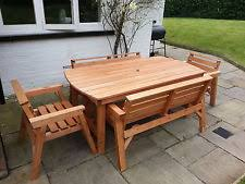 Solid Wood Patio Furniture by Wood Garden Furniture Ebay
