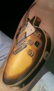 tattoo 3d guitar awesome 3d guitar tattoo on sleeve