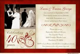 40th anniversary invitations 40th wedding anniversary invitations plumegiant