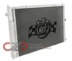 nissan 370z manual transmission csf 7012t triple pass racing radiator w condenser manual