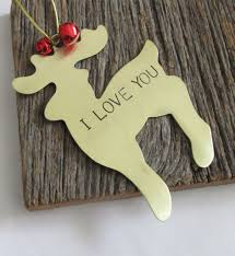 personalized christmas ornament hand stamped i love you ornament
