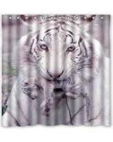White Tiger Shower Curtain Big Deals On White Tiger Shower Curtain Shower Curtains
